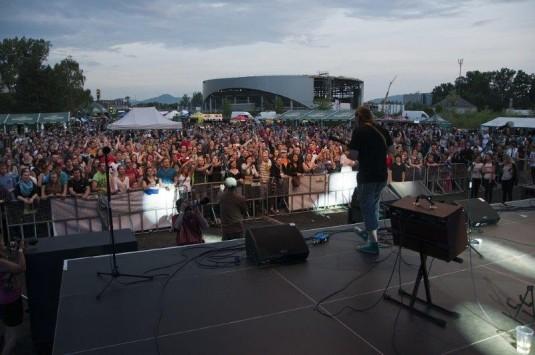 René Souček během vystoupení na Sweetsen Festu