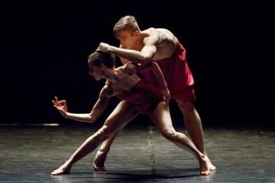 Brígida Pereira Neves a Peter Ondrka na zkoušce nového baletu.
