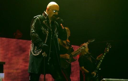 Z koncertu heavymetalové legendy Judas Priest v Ostravě