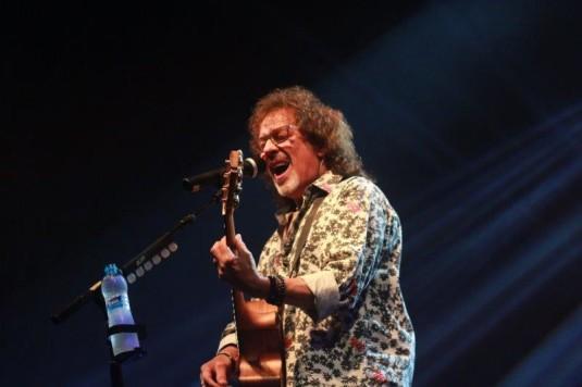Současný zpěvák kapely Smokie Mike Craft v Ostravě.