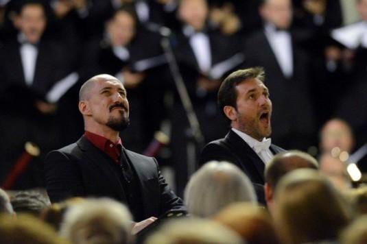 Sébastien Droy a Laurent Alvaro na závěrečném koncertu.