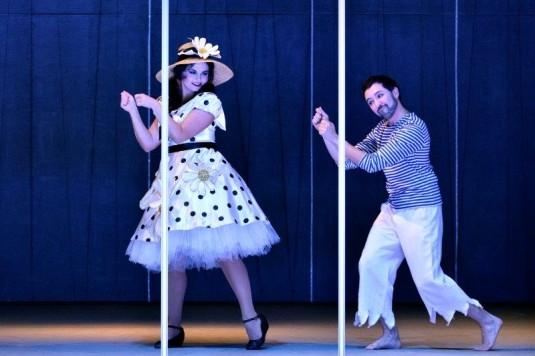Lucie Kašpárková a Jorge Garza v premiérovém představení opery Tři přání.