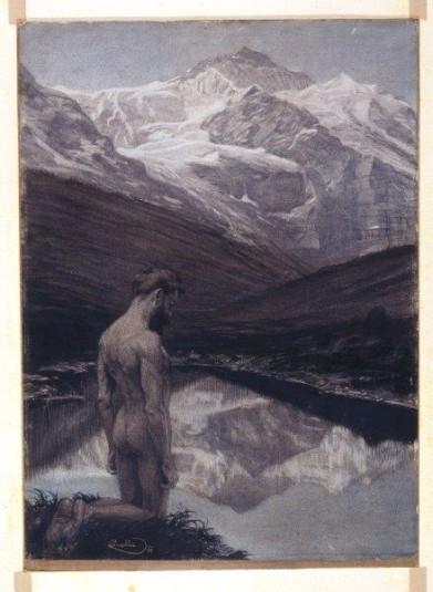 František Kupka Meditace, 1899, source The Gallery of Fine Art in Ostrava