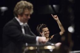 Dirigent Heiko Mathias Förster a Marta Jandová.