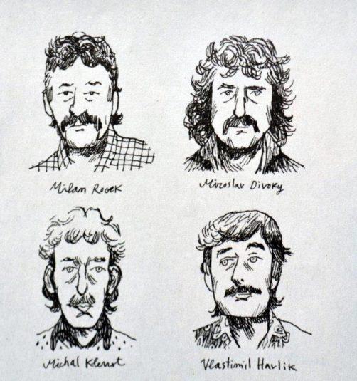 Havíři, kteří zahynuli v Asturii na kresbě Alfonsa Zapica