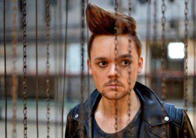 Lukáš Adam na jedné z fotografií k ostravskému nastudování rockové opery Jesus Christ Superstar.