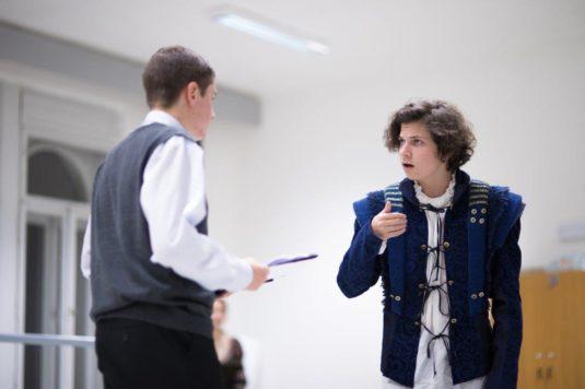 Z programu v Divadle Jiřího Myrona - William Shakespeare osobně.