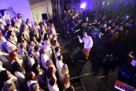Z koncertu Ostrava zpívá gospel.