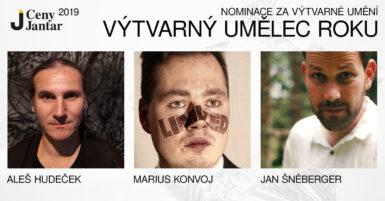Na Cenu Jantar za výtvarné umění jsou nominováni Aleš Hudeček, Marius Konvoj a Jan Šnéberger