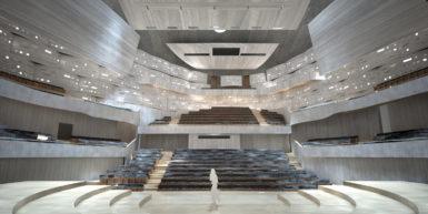 Plášť ze zinku, interiér z javorového dřeva. Finální studie k ostravské koncertní hale je dokončena