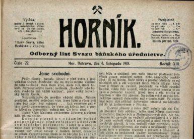 28. říjen 1918 na Ostravsku: Bezruč, španělská chřipka a verše o Prajzácích i popraveném novináři