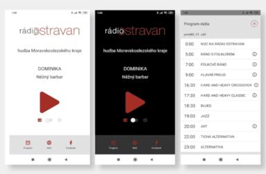 Internetové Rádio Ostravan můžete poslouchat i z aplikace pro mobilní telefony